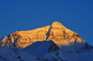Mount Everest - sun setting from base camp Tibet