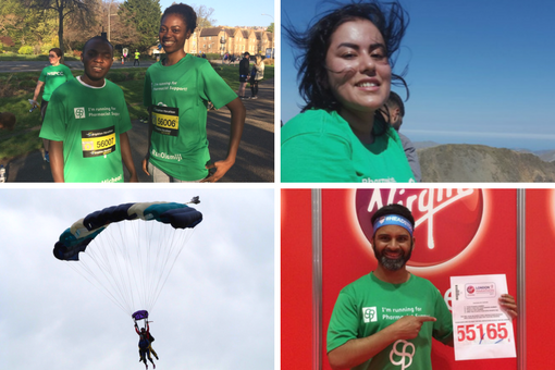Fundraising Pharmacist Support Skydive Marathons Running